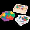 Jeu éducatif Puzzle en bois Hexagone