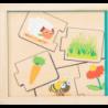 Jeu éducatif puzzle en bois Nourrir les animaux