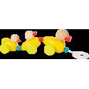 Jouet à tirer Famille de canards «Couac»