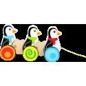 Jouet à tirer Pingouins