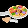 Pizza en tissu avec plat