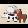 Puzzle à étages Animaux de la ferme
