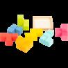 Puzzle cubes 3D Formes géométriques