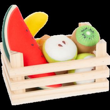 Set de fruits en tissu avec caisse