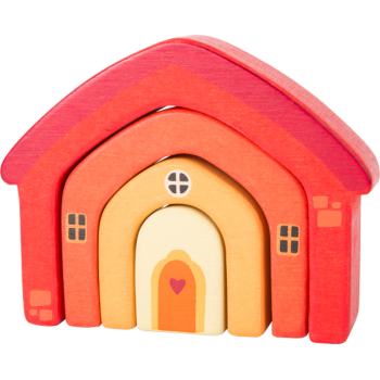 Blocs de construction en bois Maison