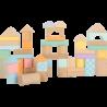 Blocs de construction en bois Pastel