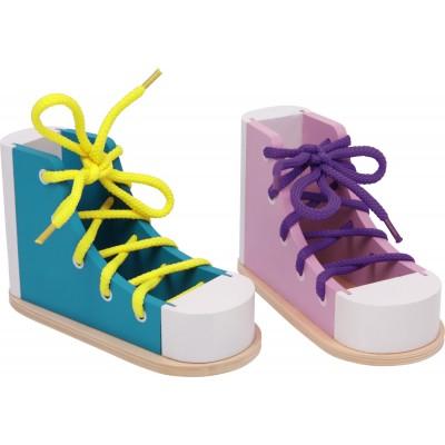 Chaussures à lacer colorées Montessori