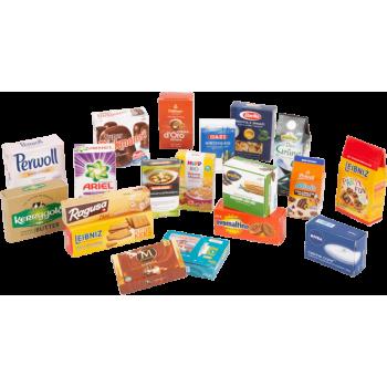 Boîtes pliantes de produits de marque pour boutique marchande