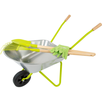 Brouette avec outils de jardin