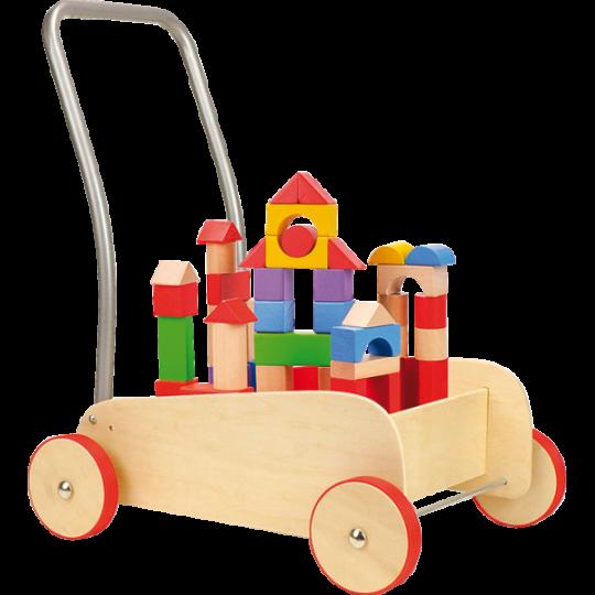 Chariot de marche Cubes de construction