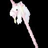 Cheval sur bâton «Licorne blanche»