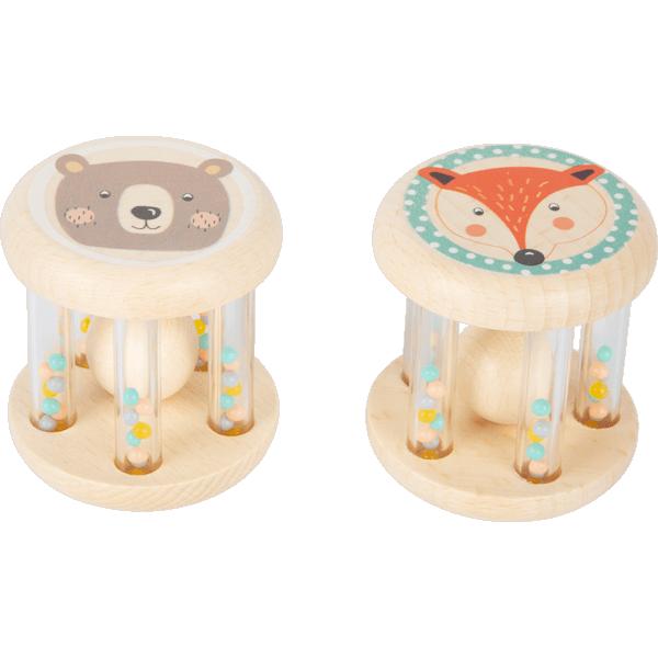Hochet bébé Animaux Pastel
